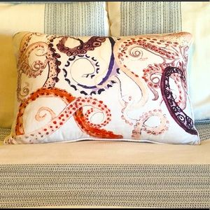 Anthropologie whimsical octopus throw pillow